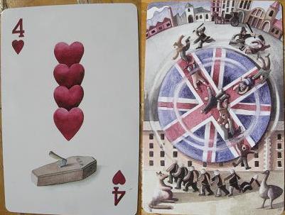 Port Arthur Historic Site - 4 of hearts card
