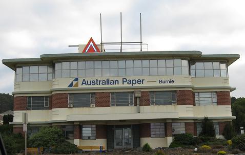 Burnie Australia Paper building