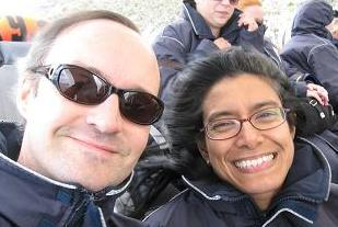 Greg and Karen on Bruny island cruise