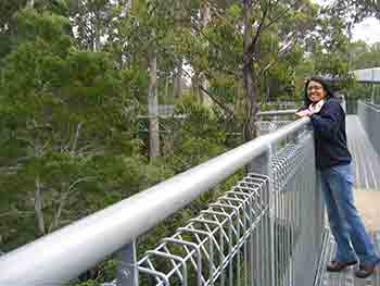 Karen on Tahune Airwalk