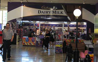Cadbury chocolate factory shop