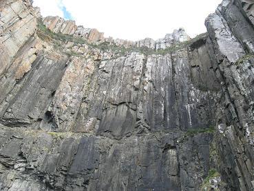 Bruny island dolorite cliffs