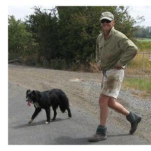 Longford - farmer and border collie