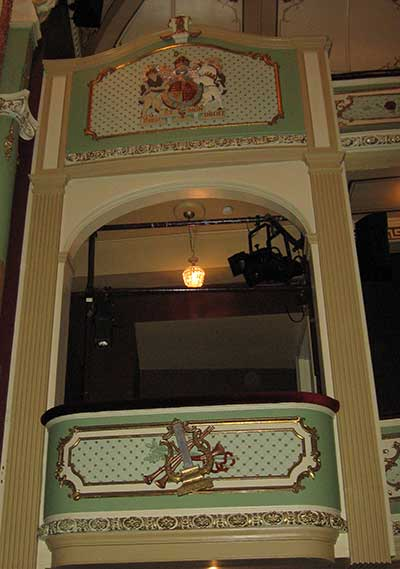 Hobart Theatre Royal box seat