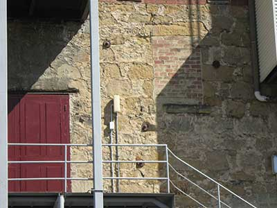 Hobart Theatre Royal outside wall