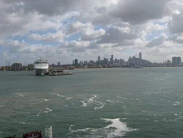 Spirit of Tasmania - leaving Port Melbourne