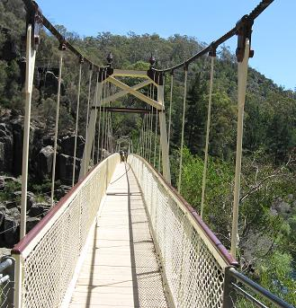 Launceston - on Alexandra suspension bridge