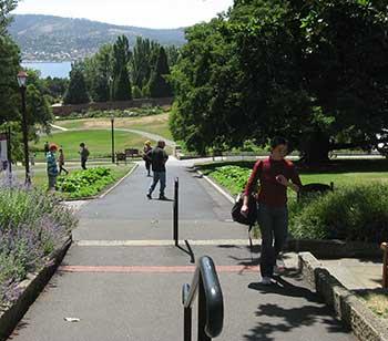 Royal Tasmanian Botanical Gardens path