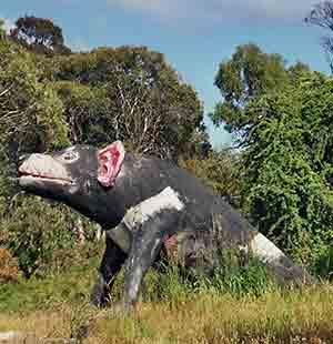 Tasmanian devil statue