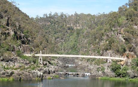 Launceston - Alexandra suspension bridge from chairlift