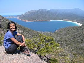Karen at Wineglass Bay