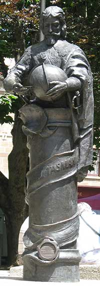 Abel Tasman statue Hobart