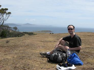 Maria Island - having lunch