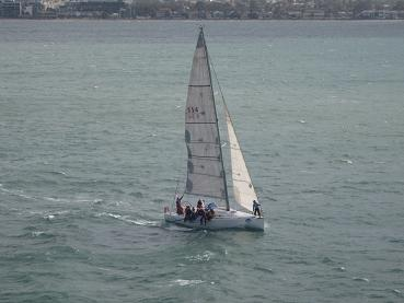Spirit of Tasmania - view of sailboat